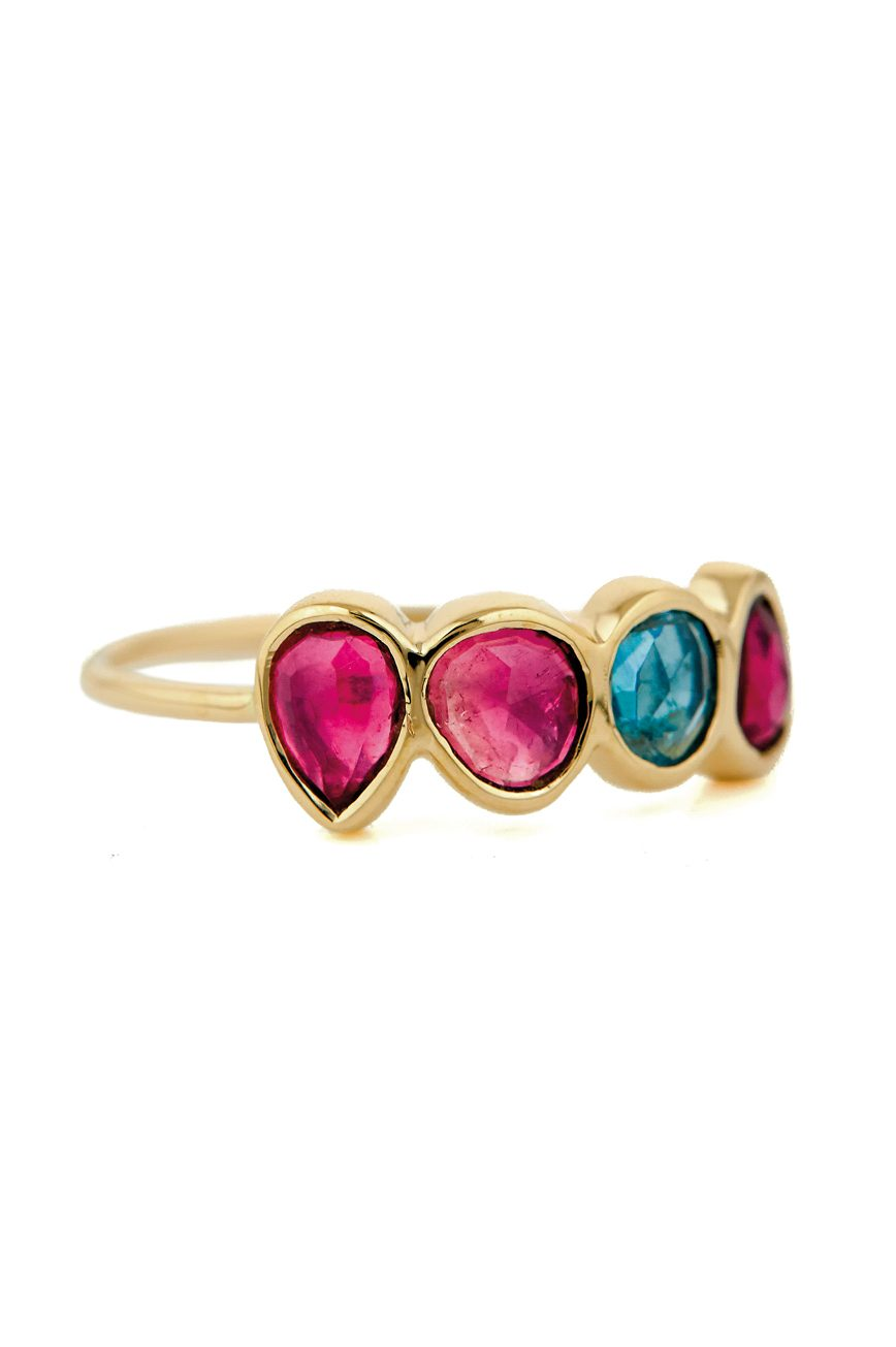 celine daoust one of a kind triple tourmaline ring
