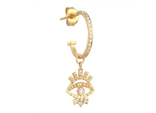 Celine Daoust Protection and Believes Mini Sun and Diamond eye Earring Charm