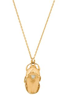 Celine Daoust From The Earth Scarab and Triangle diamond Chain Necklace