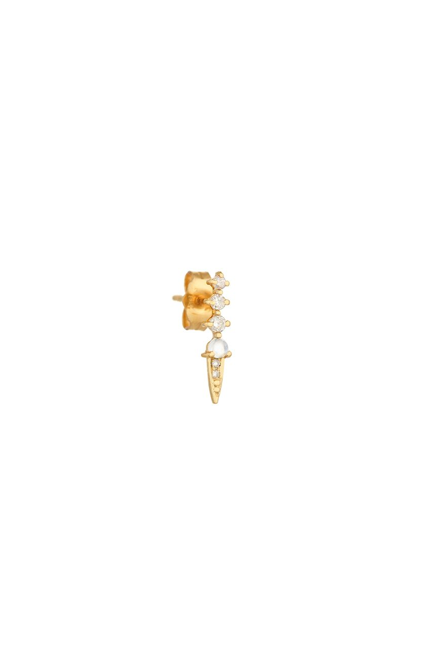 Celine Daoust Constellation Moonstone and diamonds Single Earring