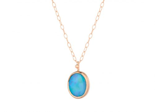 celine daoust one of a kind faye opal necklace
