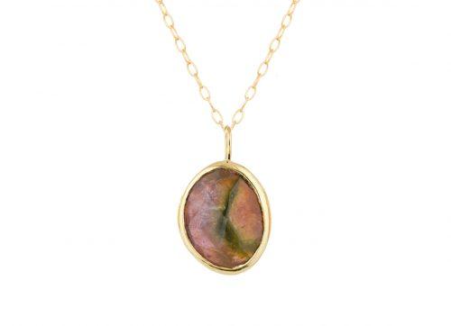 celine daoust one of a kind faye tourmaline necklace