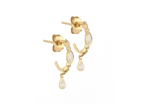 Celine Daoust Protection and Believes Diamond eyes hoop Earring set
