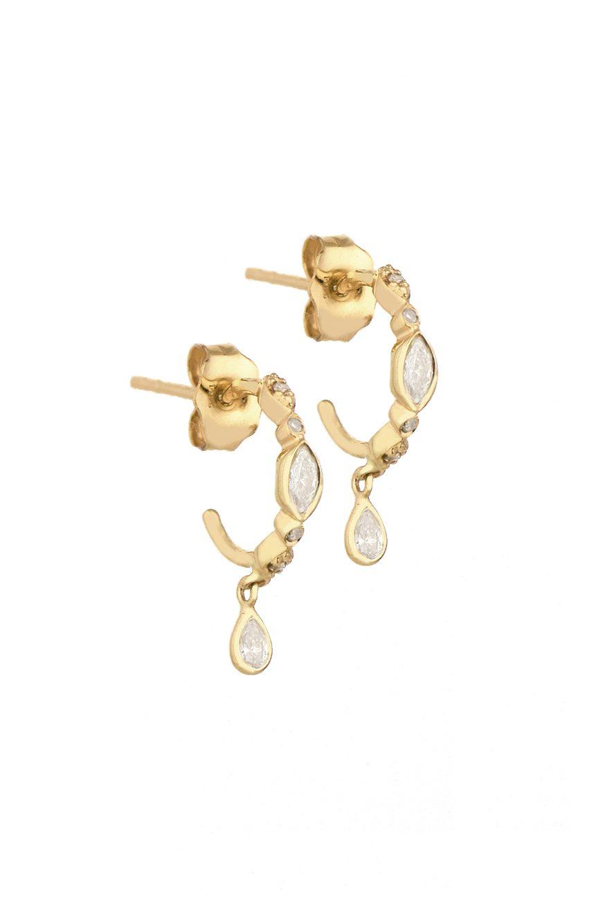 Celine Daoust Protection and Believes Diamond eyes hoop Earring set