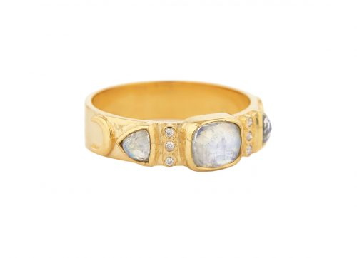 Celine Daoust Totem Moonstone and Diamonds Ring
