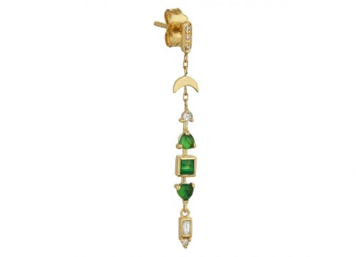 Celine Daoust One of a Kind Tsavorite and diamonds Earring