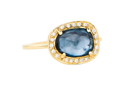 Celine Daoust One of a Kind Blue Tourmaline and Diamond Stella Ring.