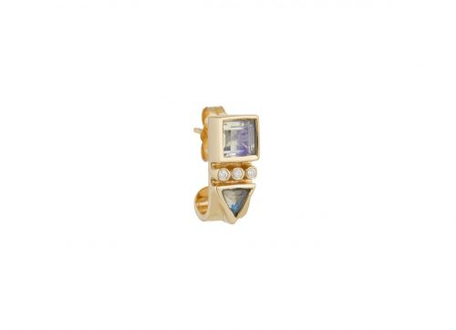 Celine Daoust Totem Moonstone Single hoop Earring