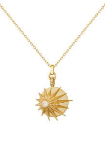 Celine Daoust Stars and Universe Full Sun and Diamonds Chain Necklace
