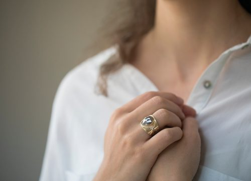 celine daoust stars and univers grey diamond ring