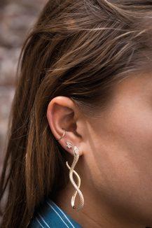 Celine Daoust Snake Marquise diamond Earrings