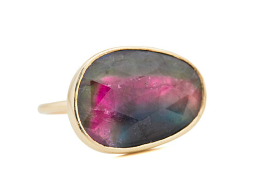 Celine Daoust One of a Kind Faye Watermelon Tourmaline Ring.