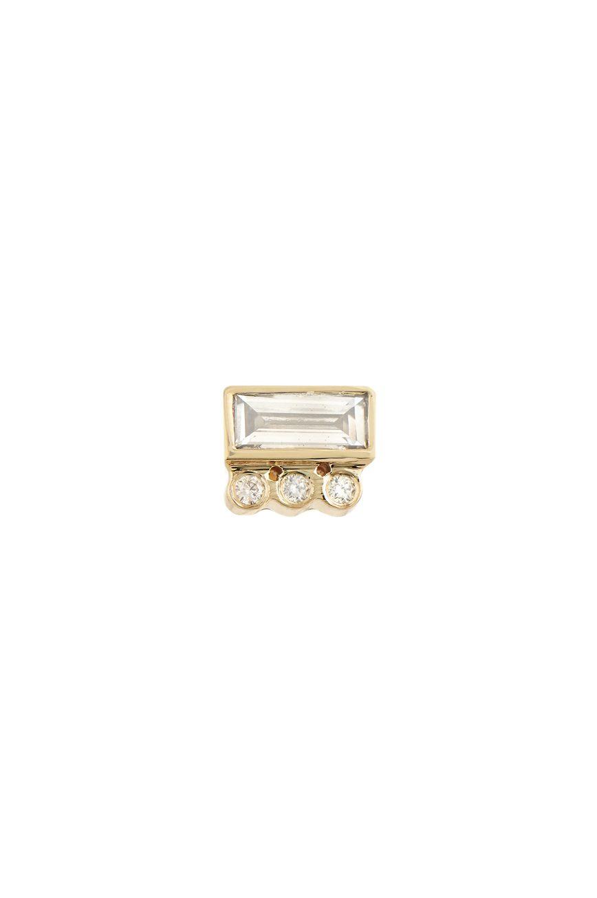 celine daoust geometrics Baguette and tubes Diamonds Single Earring stud