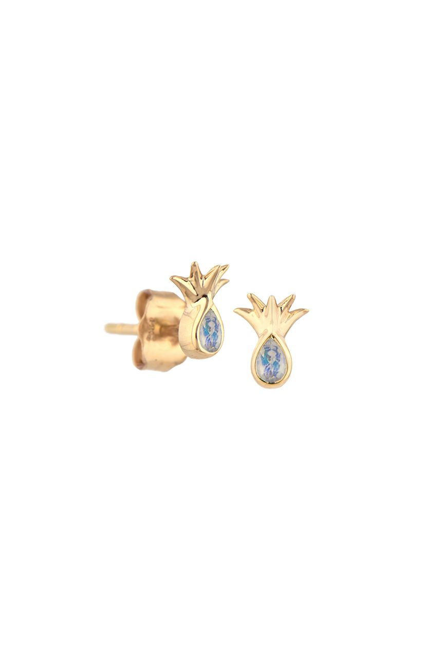 Celine Daoust Protection and Believes Moonstones Pinapple Earring stud