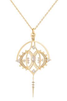 Celine Daoust Mandala Marquise Diamonds Chain Necklace