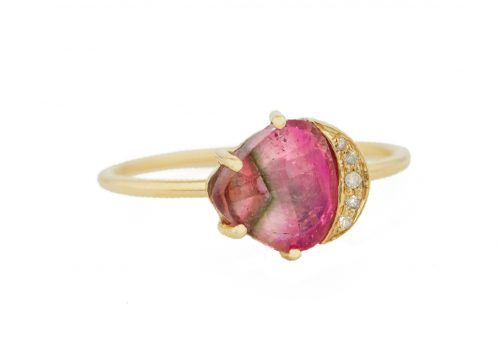 Celine Daoust One of a Kind Healing Pink Tourmaline and Diamonds Ring