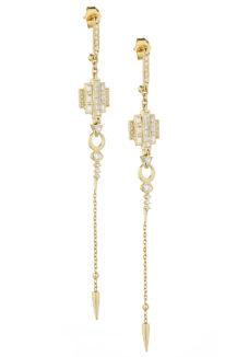 Celine Daoust Mandala Baguette Diamonds Earring