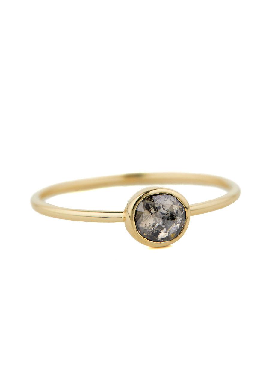 Celine Daoust Slice of the Universe Maya Grey diamond Ring.