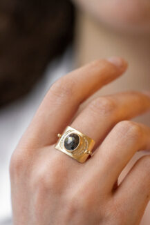 Celine Daoust One of a Kind grey diamond ring