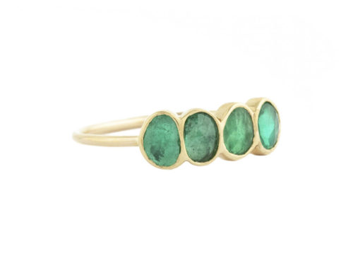 Celine Daoust One of a Kind 4 Emeralds ring