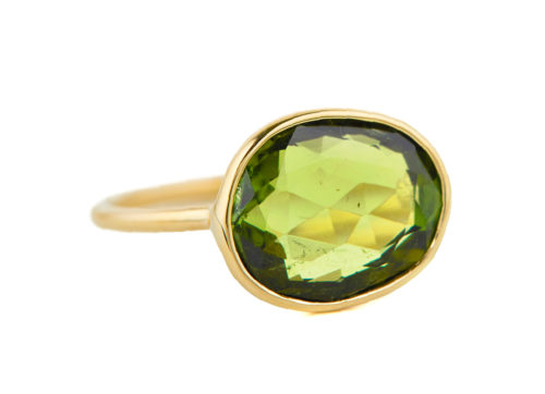 Celine Daoust One of a Kind Green Maya Tourmaline Ring.