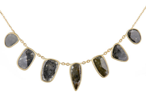 Celine Daoust Slice of the Universe multi Grey Diamonds slices Necklace
