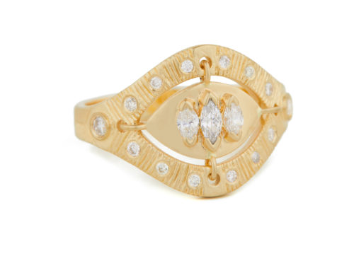 Celine Daoust Mandala Triple Marquise Eye Ring