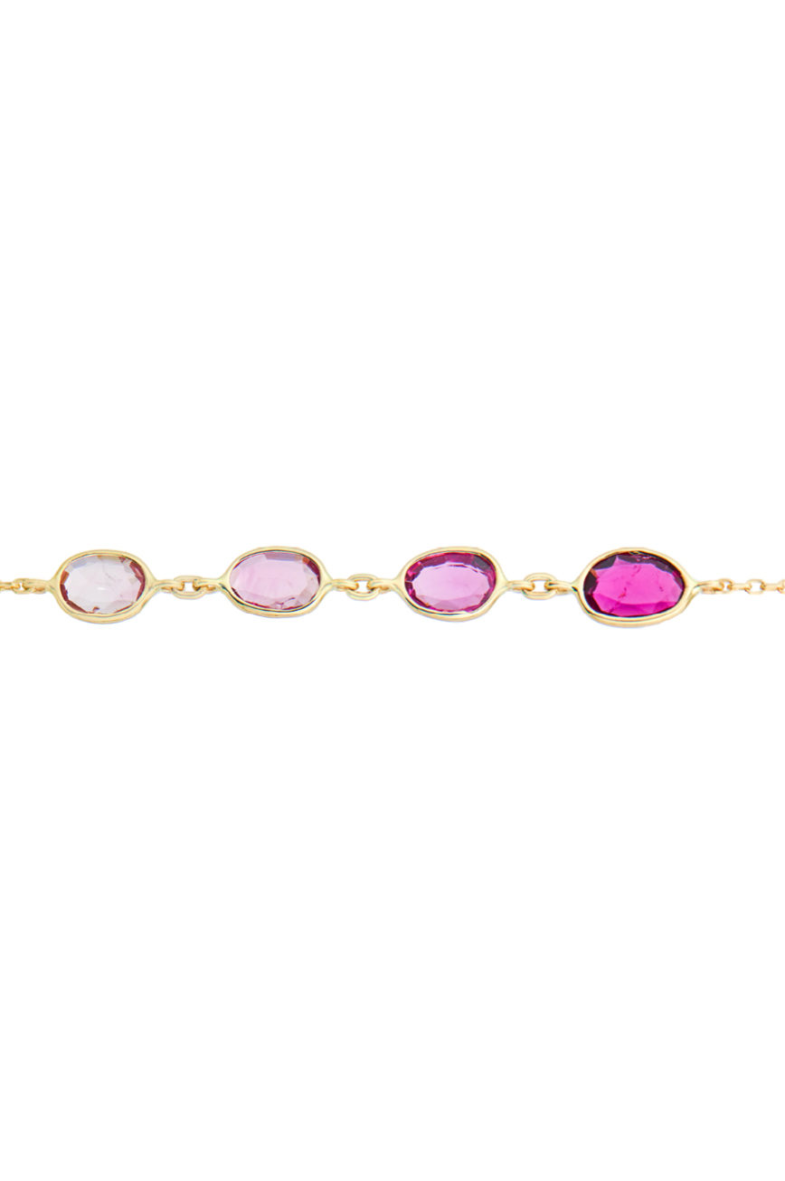 Celine Daoust One of a kind Multi Pink Tourmalines Chain Bracelet