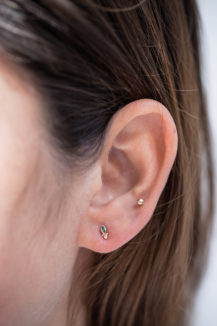 Celine Daoust Protection and Believes Marquise Emerald eye single Earring Stud