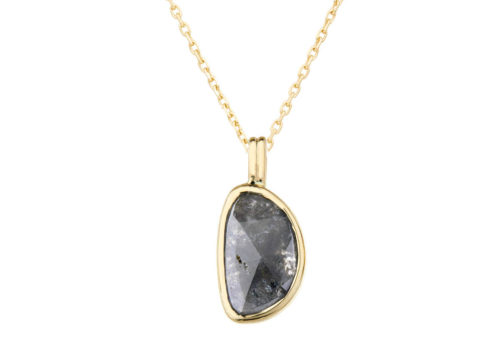 Celine Daoust Slice of the Universe Grey Diamond Slice Necklace