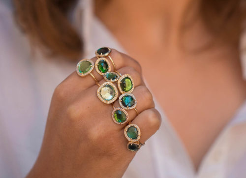 Celine Daoust One of a Kind Blue Tourmaline and Diamond Stella Ring