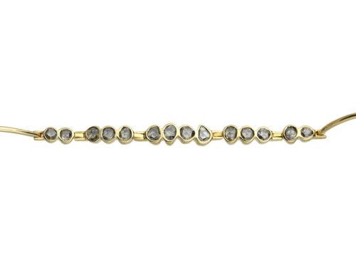 Celine Daoust One of a Kind Multi Grey Diamonds Articulated Bracelet