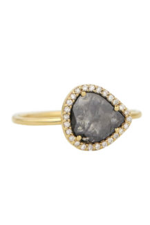 Celine Daouts Slice of the Universe Stella Grey Diamond slice and Diamonds Ring.