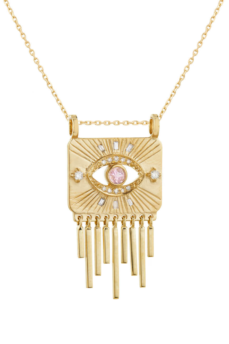 Celine Daoust_Guardian Spirit Tourmaline and Diamonds Totem Chain Necklace