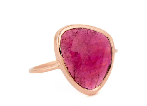 Celine Daoust One of a Kind Maya Pink Tourmaline Ring.