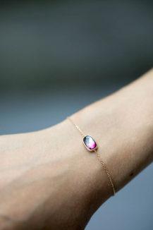 Celine Daoust_One of a Kind Maya Pink Tourmaline Bracelet