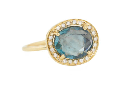 Celine Daoust One of a Kind Stella Blue Tourmaline and Diamond Ring