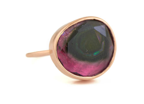Celine Daoust One of a Kind Pink Dark Faye Tourmaline Ring.