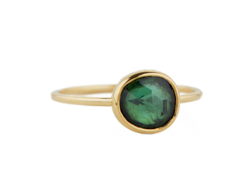 Celine Daoust One of a Kind Dark Green Tourmaline Faye Ring