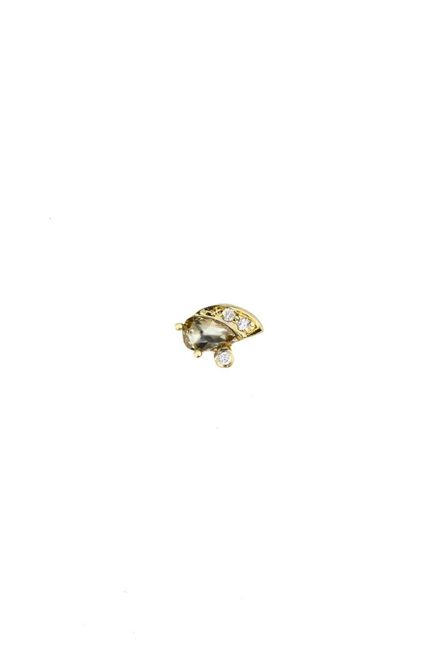 Celine Daoust One of a Kind Single Grey Diamond and Diamonds earring