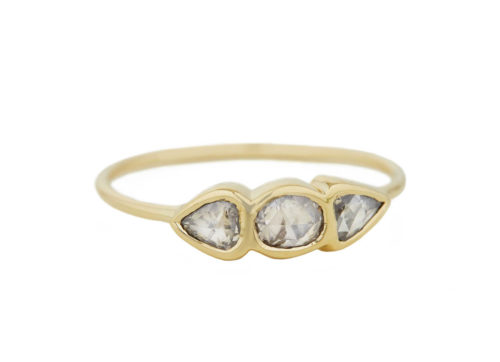 Celine Daoust One of a Kind Three Grey Diamonds ring.