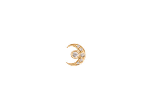 Celine Daoust Constellation Moon & Earth diamonds single Earring set
