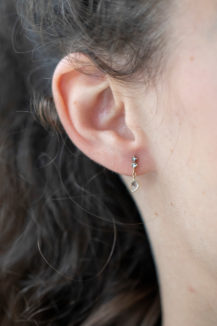 Celine Daoust Slice of the Universe Grey Diamond Slice and Two Grey Earring