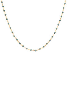 Celine Daoust Slice of the universe Grey Diamond Square Beads Necklace