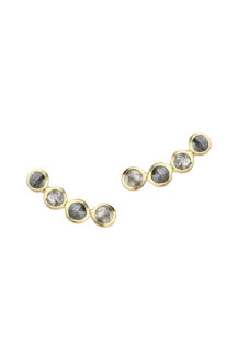 Celine Daoust Slice of the universe Single Twisted Grey Diamonds earring