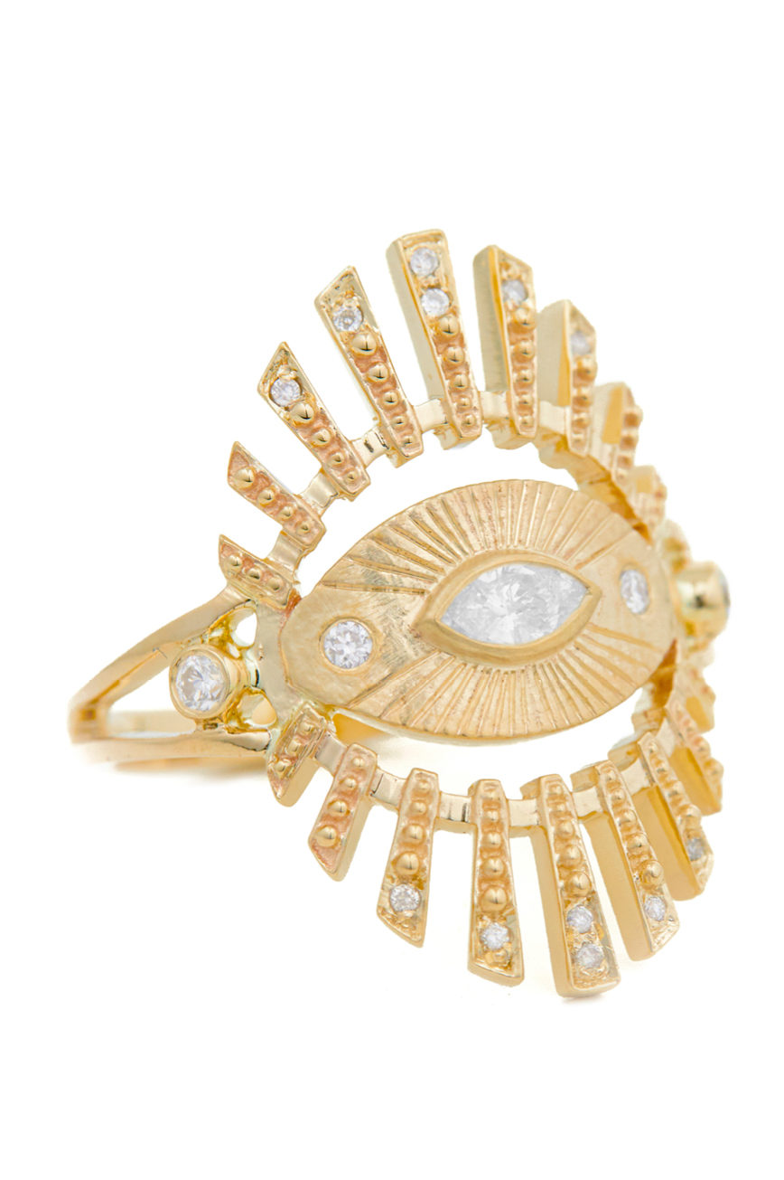 Celine Daoust Protection and believes Sun eye diamond Ring