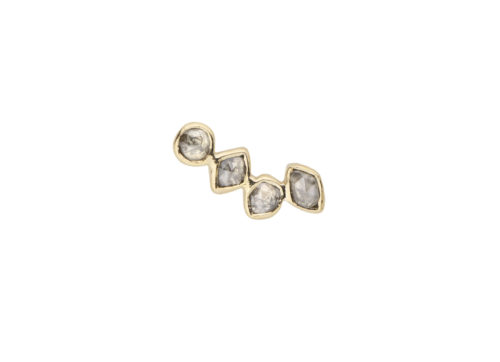 Celine Daoust One of a Kind Multi Grey diamond Single Earring Stud