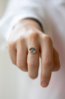 Celine Daoust One of a kind Slice of the universe Diamond Slice Ring