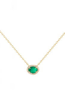 Celine Daoust One of a Kind Stella Emerald and Diamond Necklace