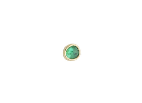 Celine Daoust One of a Kind Single Emerald Stud earring